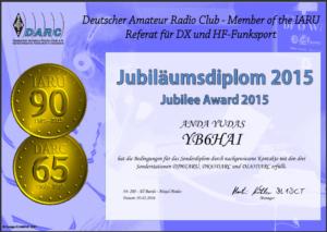 jubilee award 2015